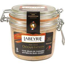 LABEYRIE Foie gras de canard entier du Sud-Ouest bocal 8 portions 285g