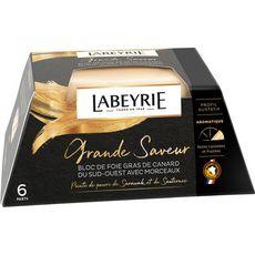 LABEYRIE Bloc de foie gras de canard du Sud-Ouest avec morceaux poivre Sauternes 6 portions 260g