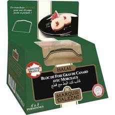 LABEYRIE Bloc de foie gras de canard avec morceaux halal avec lyre 6-8 parts 290g