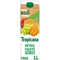 TROPICANA Pur jus fruit pressé réveil fruité 1l