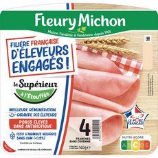 FLEURY MICHON Jambon blanc sans couenne 4 tranches 140g