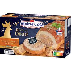 MAITRE COQ Rôti de dinde farce au foie gras de canard 4-5 parts 700g
