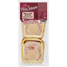 PIERRE SCHMIDT Pâté en croûte Richelieu médaillon mousse de canard 2 pièces 200g