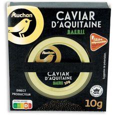 AUCHAN GOURMET Caviar d'Aquitaine Baerii 10g