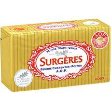 SURGERES Beurre doux AOP Charentes-Poitou 250g