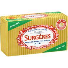 SURGERES Surgères beurre aoc demi-sel 250g 250g