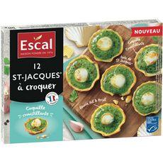 ESCAL Escal St-Jacques à croquer coquille croustillante MSC x12 160g 12 pièces 160g