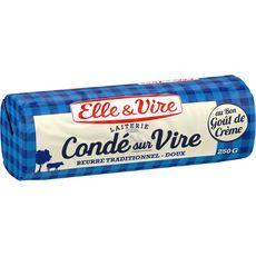ELLE & VIRE Beurre roulé doux de Condé 250g