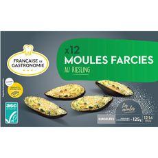 FRANCAISE DE GASTRONOMIE Française de Gastronomie Moules farcies au Riesling ASC x12 125g 12 pièces 125g