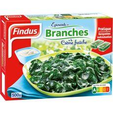 FINDUS Epinards en branche à la crème fraîche 2 pièces 500g