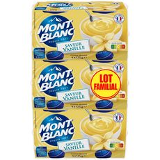 MONT BLANC Mont Blanc Crème dessert saveur vanille 12x125g 12x125g