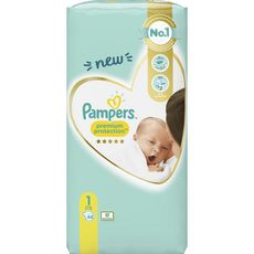 PAMPERS Premium protection couches taille 1 (2-5kg) 44 couches