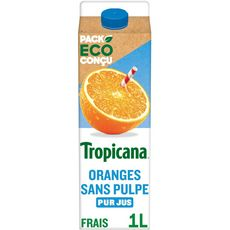 Tropicana TROPICANA Pur jus d'oranges sans pulpe
