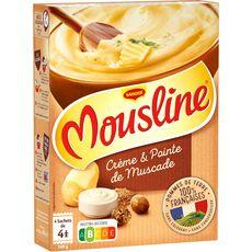 MOUSLINE Purée à l'ancienne, à la crème et noix de muscade 4x4 personnes 4x125g