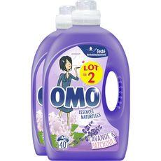 OMO Omo Lessive liquide lavande & patchouli 80 lavages 2x2l 80 lavages 2x2l