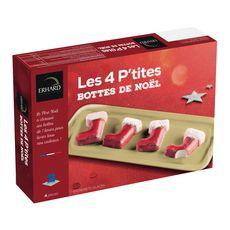ERHARD Les 4 P'tites bottes de Noël entremets glacés 4 pièces 200g