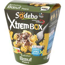 SODEBO Sodebo Xtrem Box Radiatori boeuf poivre sans couverts 400g 1 portion 400g