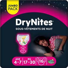 DryNites HUGGIES DryNites culottes de nuit fille dès 4 ans (17-30kg)