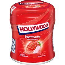 HOLLYWOOD Chewing-gum à la fraise sans sucres boîte 87g