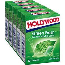 Hollywood HOLLYWOOD Green fresh chewing-gums sans sucres menthe verte