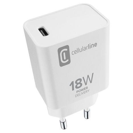 CELLULAR Adaptateur Chargeur USB-C - Blanc