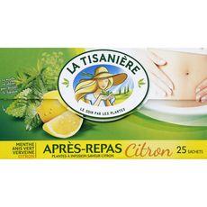 LA TISANIERE Infusion après repas citron 25 sachets 37,5g
