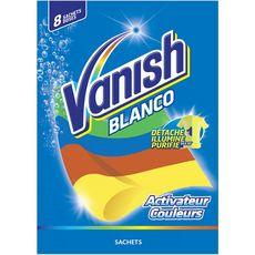 VANISH Blanco Activateur couleurs 8 sachets