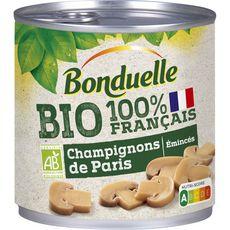 BONDUELLE Champignons de Paris bio émincés 230g