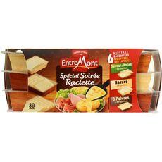 ENTREMONT Fromage à raclette d'antan, poivre et nature 660g