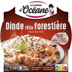 LA CUISINE D'OCEANE Dinde rôtie forestière et son duo de riz barquette 2min au micro-ondes 1 personne 300g