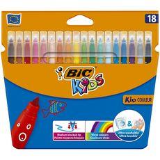 BIC Bic Feutres de coloriage pointe moyenne lavables x18 18 pièces