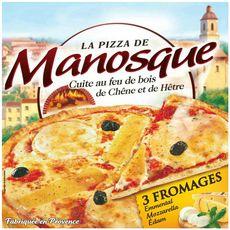 MANOSQUE Pizza 3 fromages cuite au feu de bois 400g