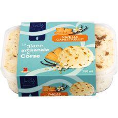 JOSE DALGE Crème glacée de corse vanille canistrelli bac 450g
