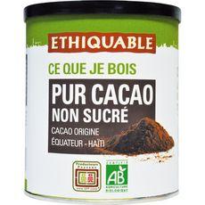 ETHIQUABLE Pur cacao bio en poudre non sucré 200g