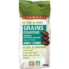 ETHIQUABLE Café en grains d'Equateur bio 500g