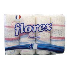 FLOREX Florex Essuie-tout blanc 4 rouleaux 4 rouleaux