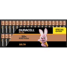 Duracell Plus Piles AAA/LR03 x36