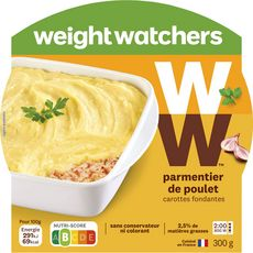 WEIGHT WATCHERS Weight Watchers Parmentier de poulet carottes fondantes 300g 1 personne 300g