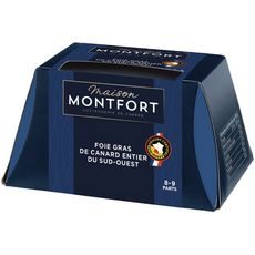 MAISON MONTFORT Maison Montfort Foie gras de canard entier du Sud-Ouest 8 à 9 parts 300g 8-9 portions 300g