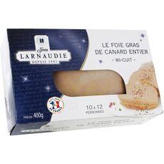 JEAN LARNAUDIE Foie gras de canard entier 10-12 portions 400g
