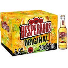 DESPERADOS Bière original aromatisée tequila 5,9% bouteilles 20X25cl
