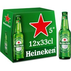 Heineken Bière blonde 5% bouteilles 12x33cl