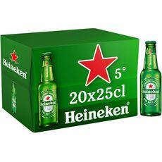 HEINEKEN Bière blonde premium 5% bouteilles 20x25cl