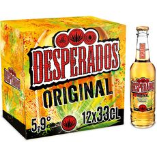 DESPERADOS Bière original aromatisée tequila 5,9% bouteilles 12x33cl