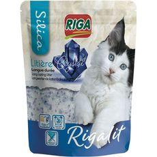 RIGA Rigalit Litière silice crystal longue durée pour chat 2,2kg