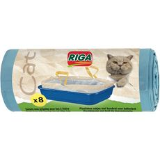 RIGA Sachets avec poignées pour bac à litière 8 pièces