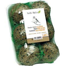 RIGA Riga Boules de graisse riches en graines pour oiseaux 6x250g 6x250g