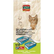 RIGA Riga sachets plastiques avec bac petit modèle pour chat