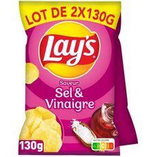 LAY'S Chips saveur sel et vinaigre 2x130g