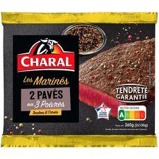 CHARAL Pavés de bœuf marinés aux 3 poivres 2x130g